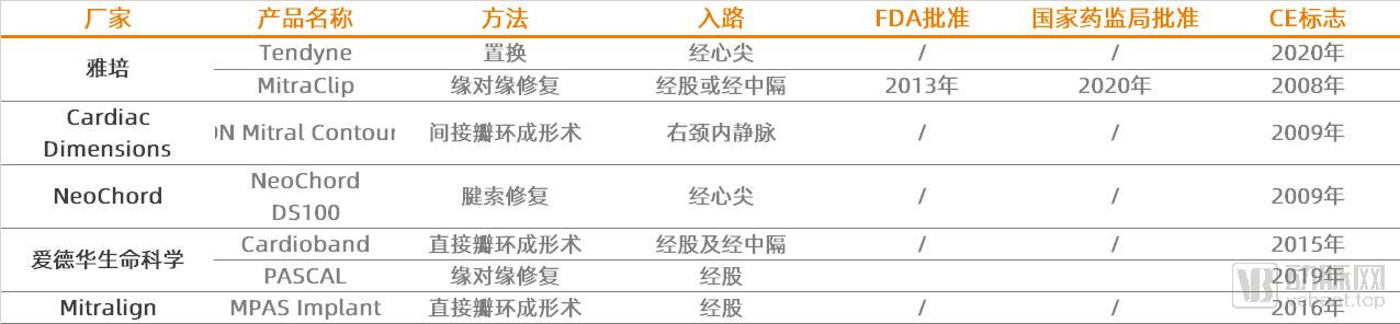 全球二尖瓣主要商业化产品.png